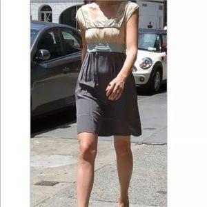 Anthropologie Diodore Sz 2 Belted 100% Silk Dress
